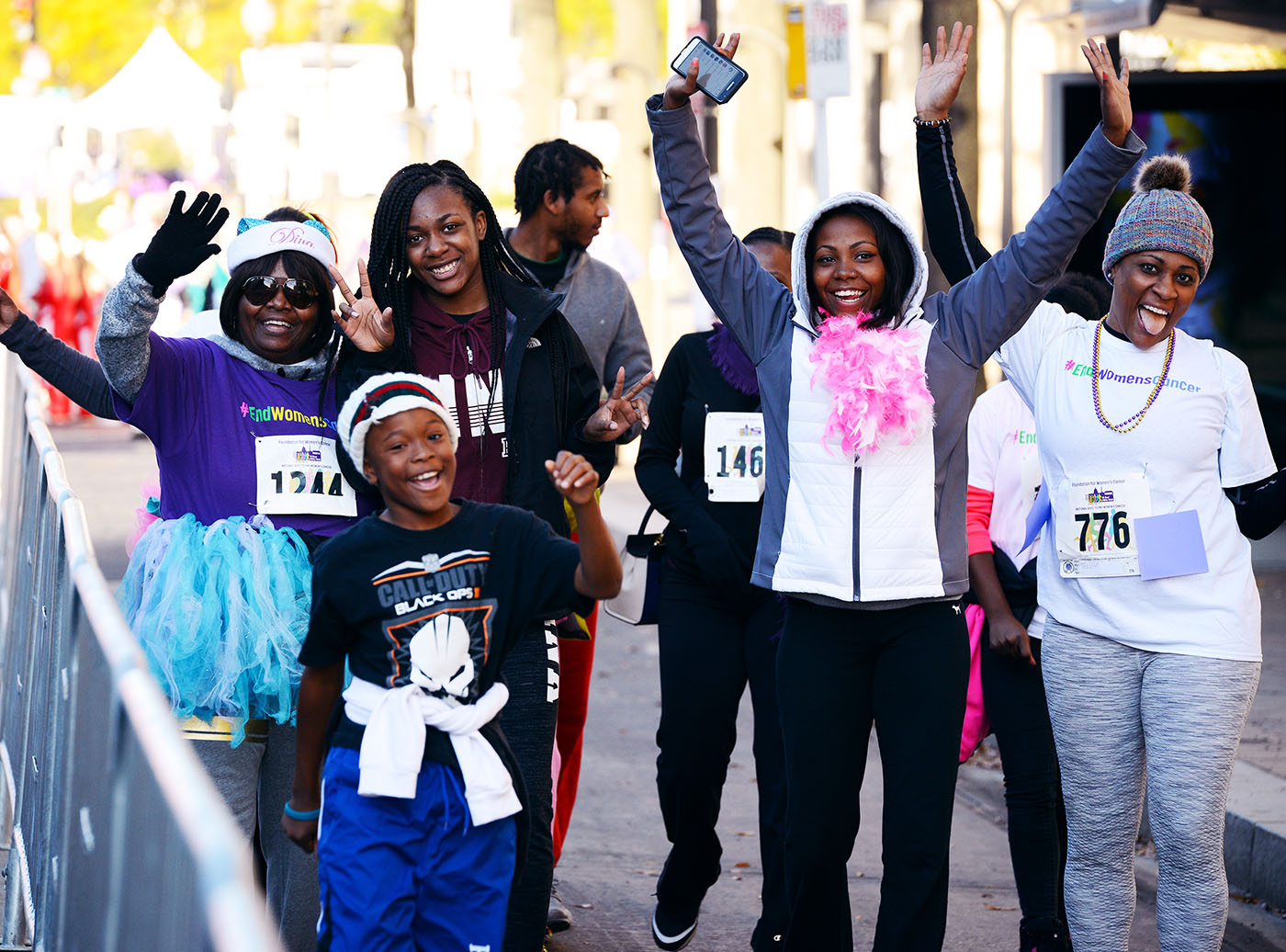 FWC Race Family Excited Gyn Cancer Survivor Advocacy